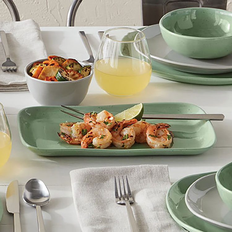 american metal company inc crave collection green platters